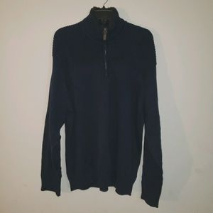 Navy Coleman Quarter Zip Sweater XXL NWT